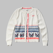 girls iconic crew cardigan