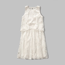 girls lace overlay dress
