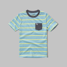 girls stripe pocket tee