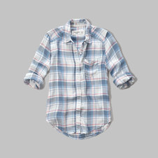 girls plaid pocket shirt