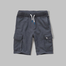 girls fleece cargo shorts