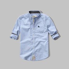 girls contrast poplin shirt