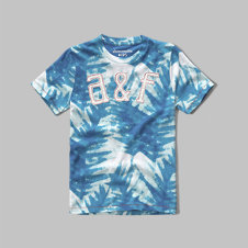 girls palm print logo graphic tee
