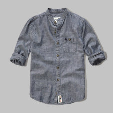 girls mandarin collar shirt