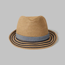 girls Straw Fedora