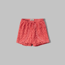 girls lace tulip shorts