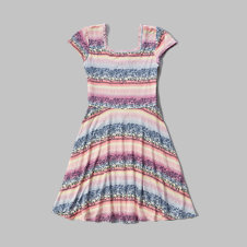 girls knit skater dress