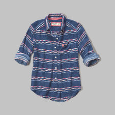 girls contrast pattern shirt