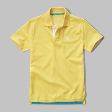 girls contrast polo