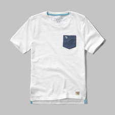 girls slub pocket tee