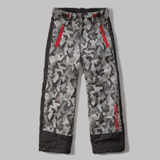 girls contrast snow pants