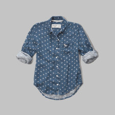 girls patterned woven shirt
