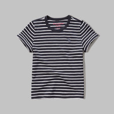 girls slim ringer tee