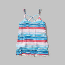 girls patterned ruffle cami