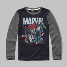 girls Marvel graphic tee