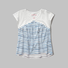 girls mixed fabric tee