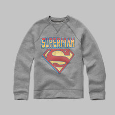 girls superman fleece sweatshirt