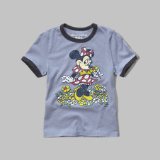 girls minnie mouse graphic tee
