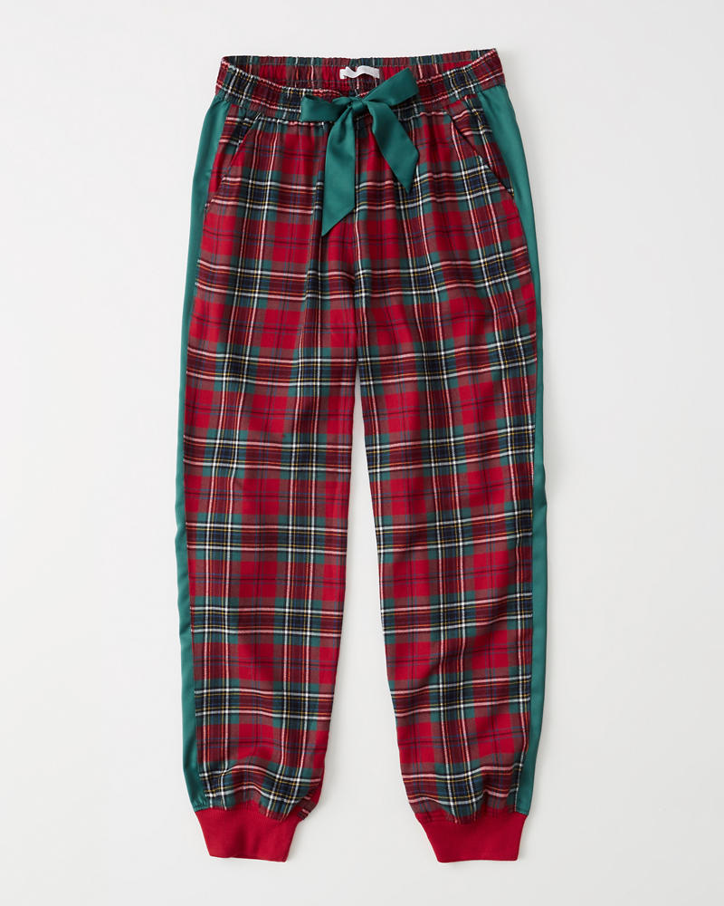 Flannel Joggers by Abercrombie & Fitch