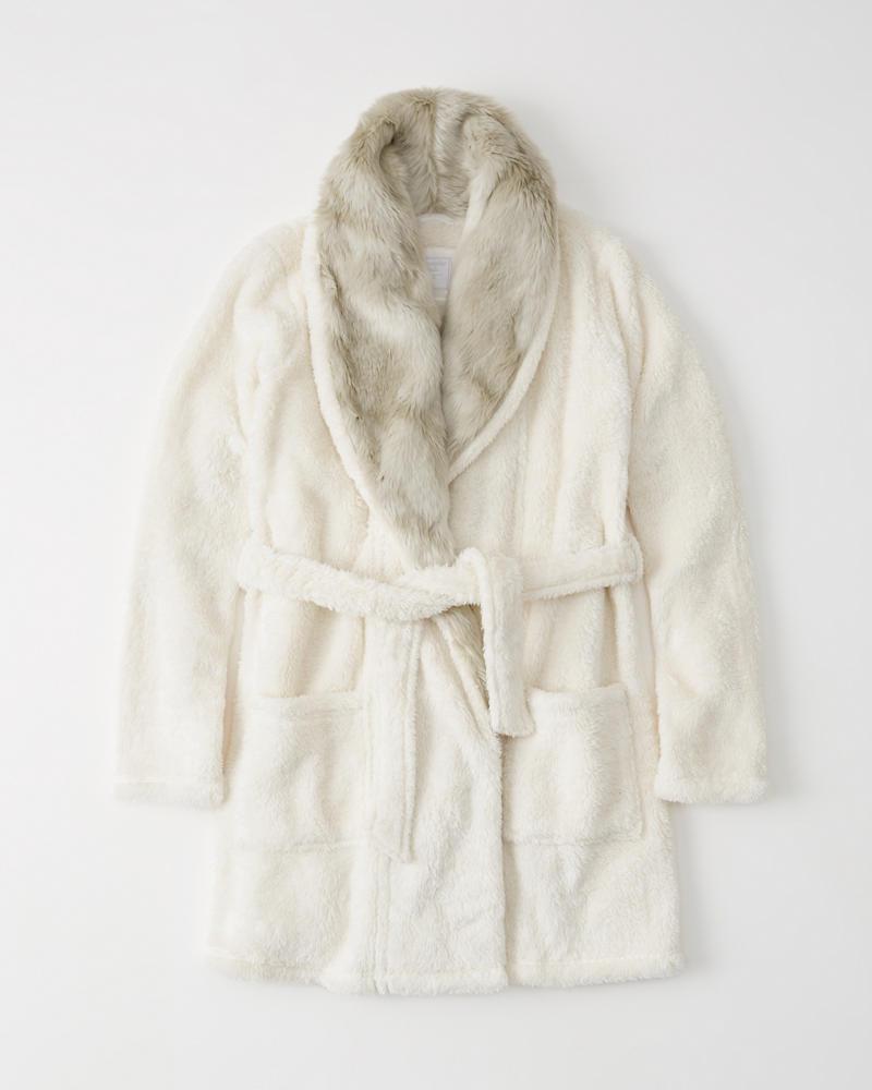 A&F Faux Fur Robe