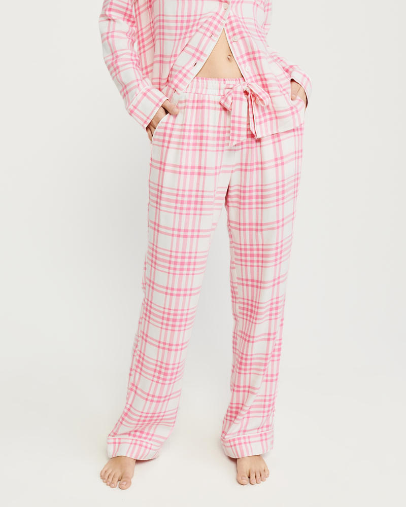 Twill Menswear Sleep Pants in Pink - Come explore 7 Satisfying Highs for a Hopelessly Happy Homebody!