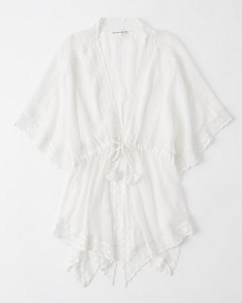 ANFTie-Front Kimono Coverup