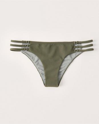 ANFCheeky Side-Strap Ribbed Bikini Bottoms