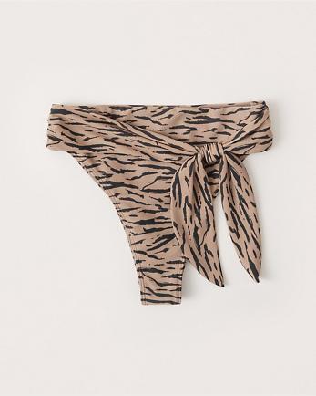 ANFHigh-Waist Cheeky Bikini Bottom