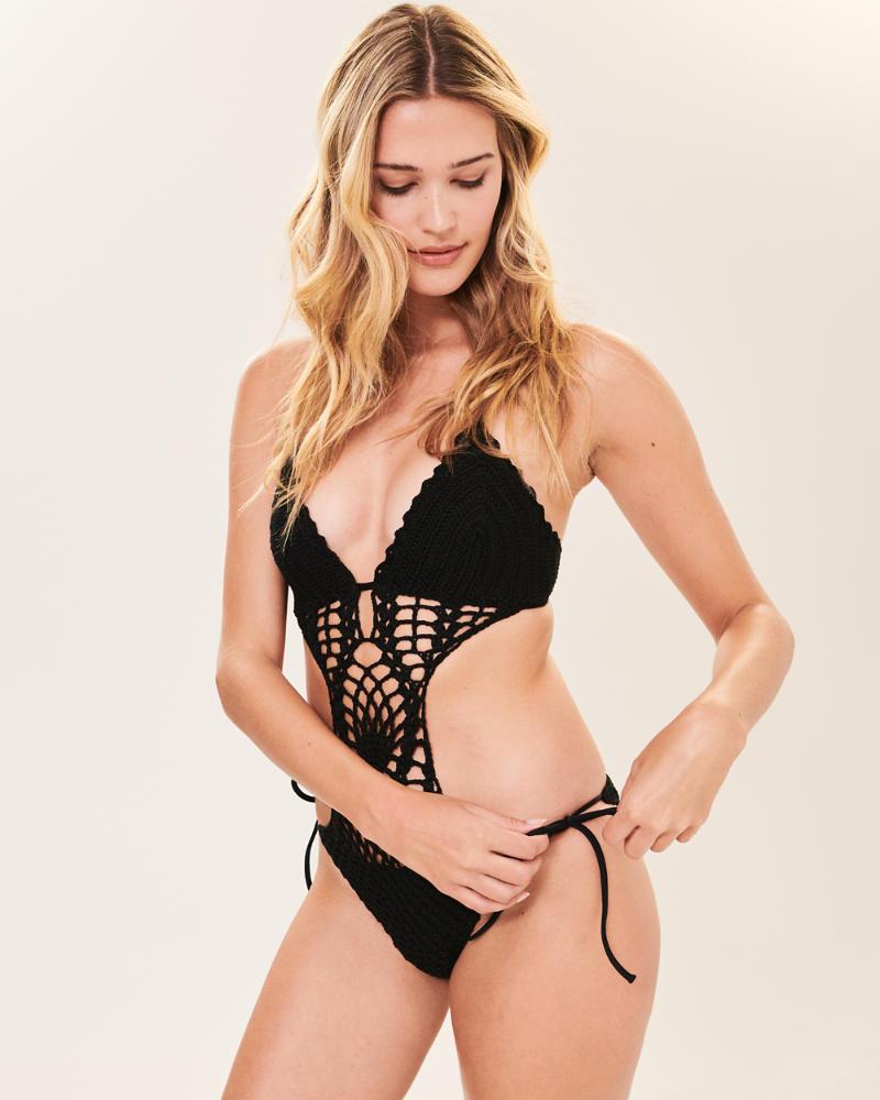 8935f36c12 Womens Crochet One Piece Swimsuit | Womens Swimwear | Abercrombie.com