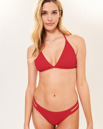 f30ea4dd4cdfc Textured Racerback Triangle Bikini Top