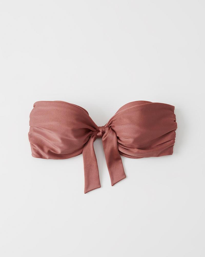 79aee2a8baaf Womens Bow-Front Bandeau Bikini Top | Womens Clearance | Abercrombie.com