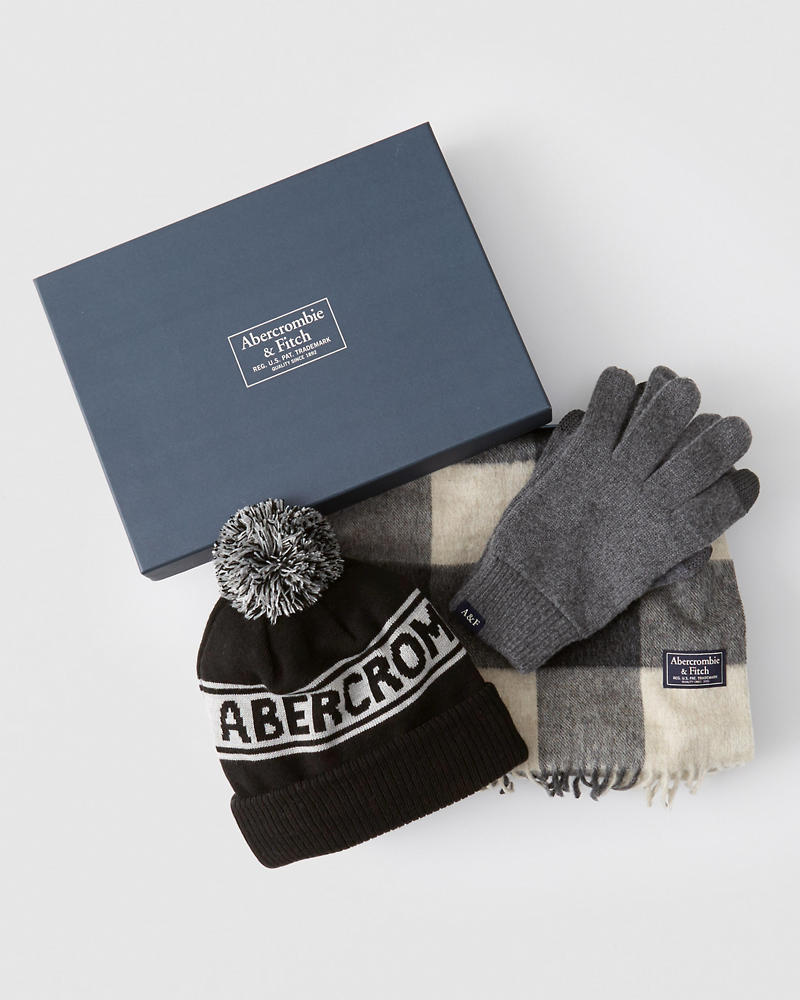 Scarf, Beanie & Gloves Gift Set by Abercrombie & Fitch