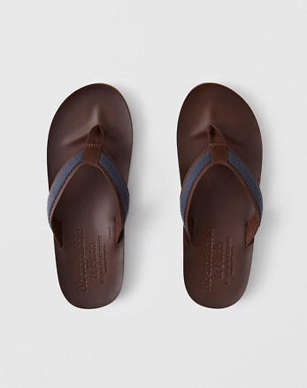 5d4db5c9e Leather Flip Flops