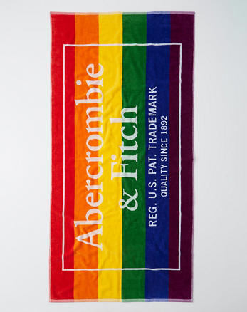 Pride Beach Towel Multi Color Stripe