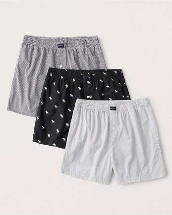 ANF3-Pack Woven Logo Boxers