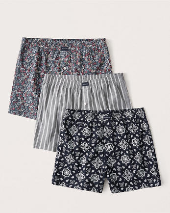 ANF3-Pack Woven Boxers
