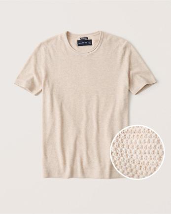 ANFPima Cotton Textural Knit Tee