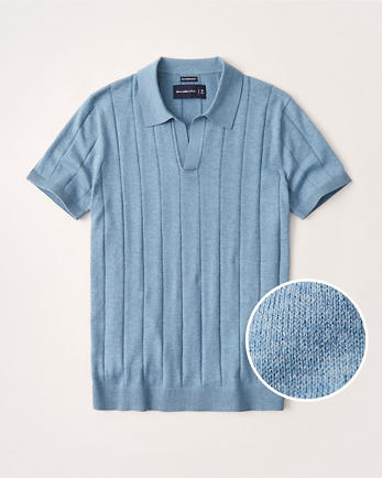 ANFPima Cotton Johnny Collar Knit Polo
