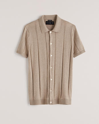 ANFButton-Up Knit Polo