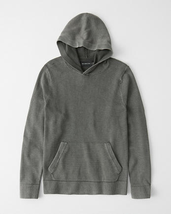ANFGarment Dyed Sweater Hoodie