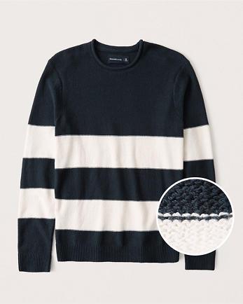 ANFStriped Crewneck Sweater