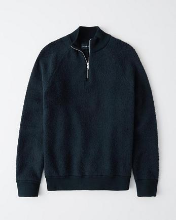 ANFMock Neck Quarter-Zip Sweater