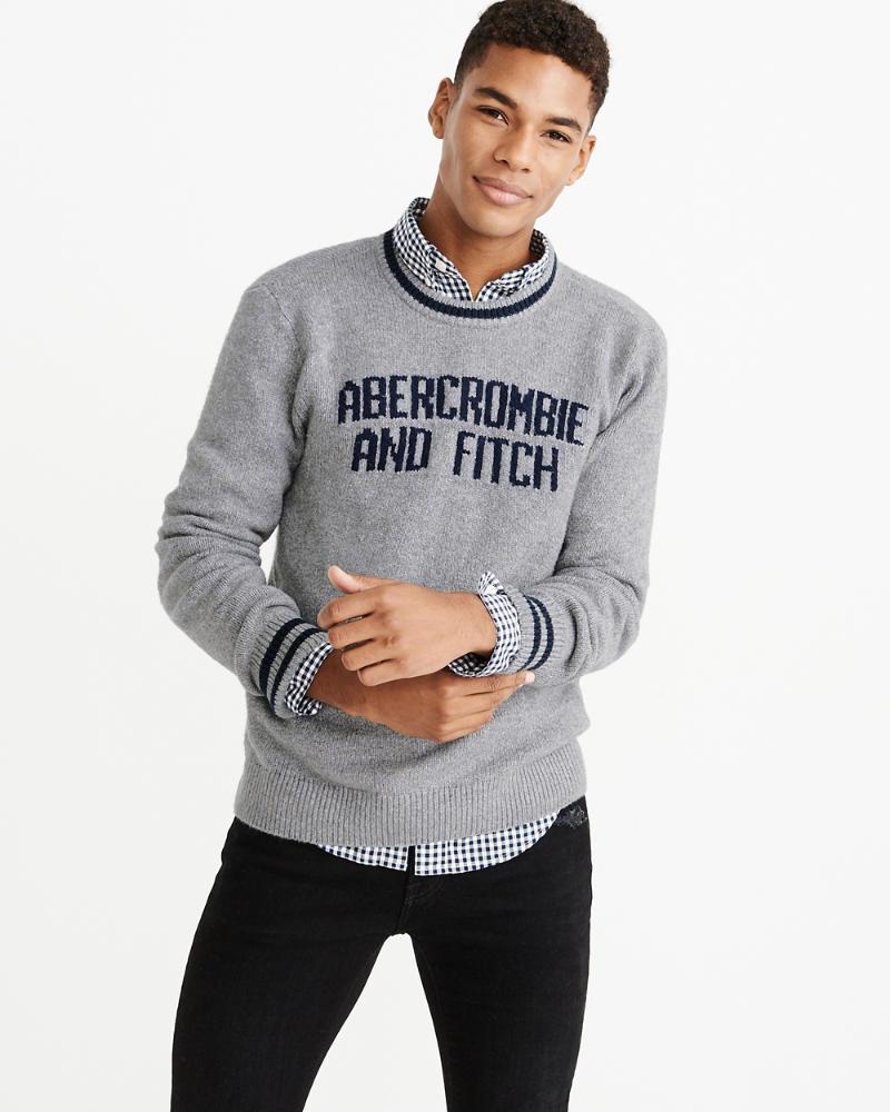 bb6b1b9988f5de Mens Varsity Intarsia Sweater | Mens Clearance | Abercrombie.com