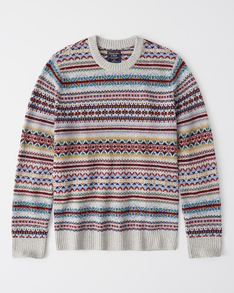 Fair Isle Crewneck Sweater by Abercrombie & Fitch