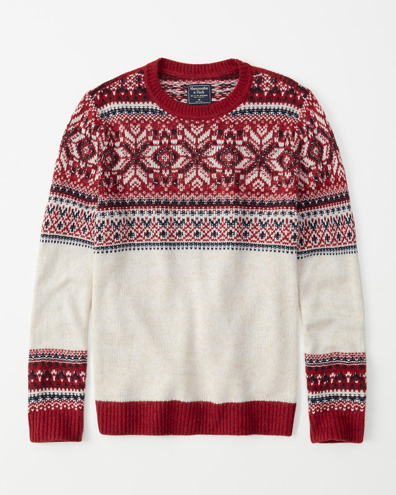 Snowflake Pattern Sweater by Abercrombie & Fitch