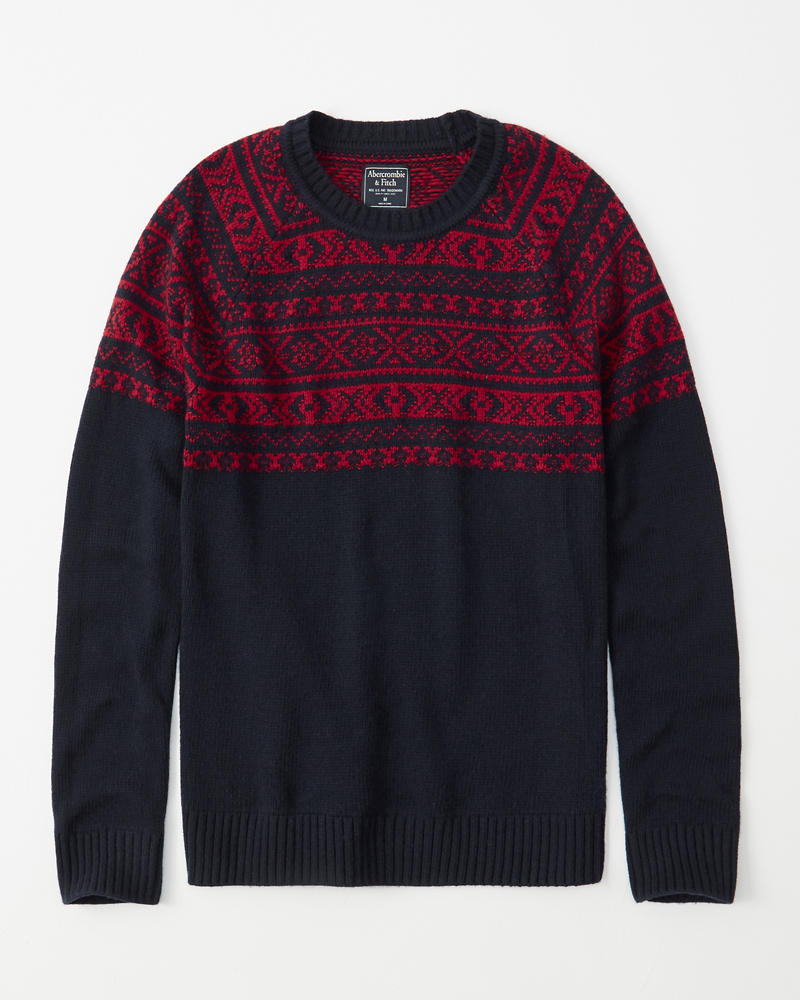 Nordic Pattern Sweater by Abercrombie & Fitch