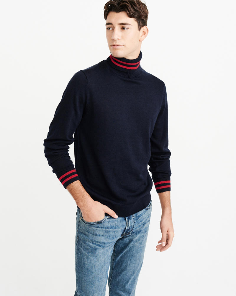 Merino Blend Turtleneck by Abercrombie & Fitch