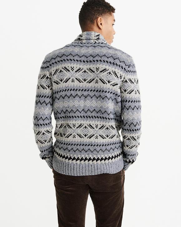 4b293e283 Patterned Shawl Sweater