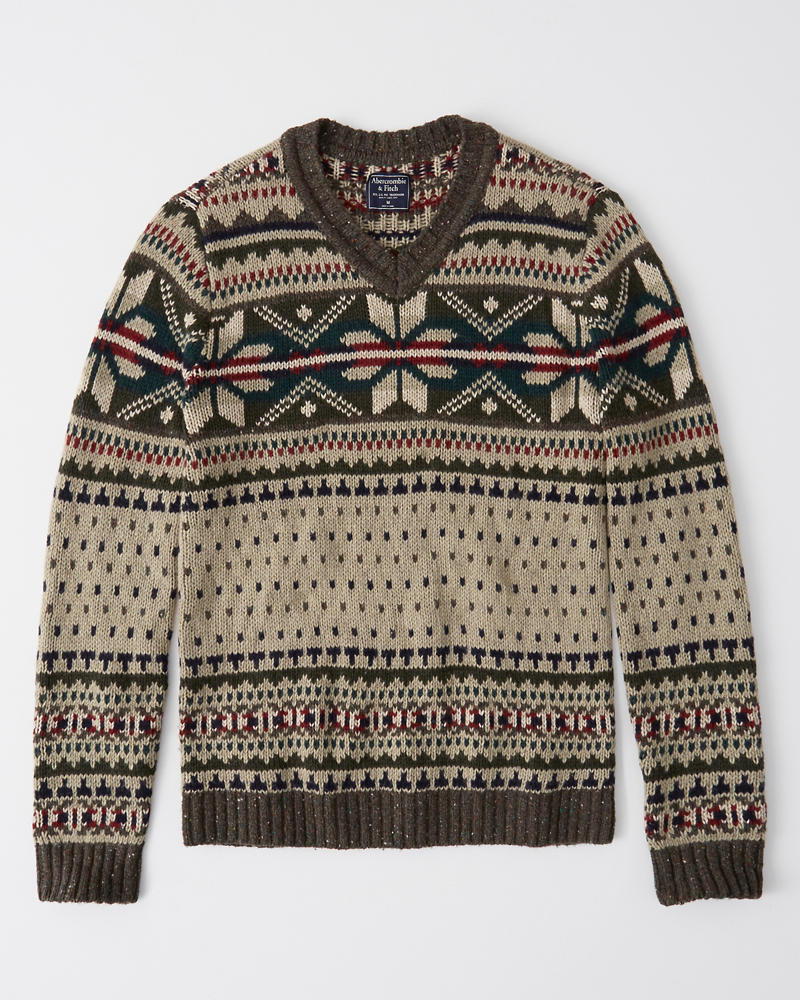 7c33a99fc1b Mens Vintage-Inspired Snowflake Sweater
