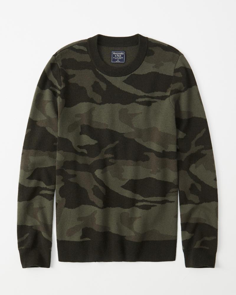 Heren Sweater met camouflagemotief | Heren Sale